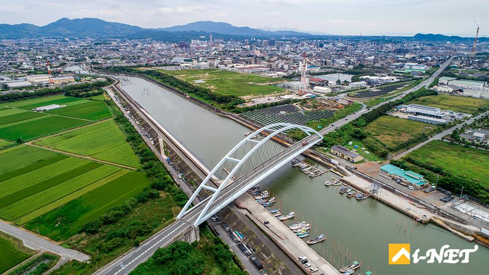 福岡県大牟田市空撮
