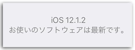 iOSバージョン表示