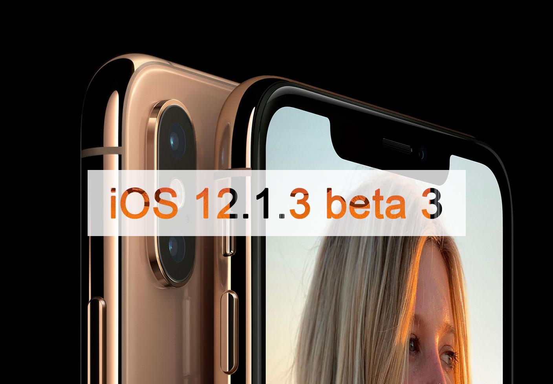 iOS 12.1.3 beta 3が開発者向けにリリース-1月8日