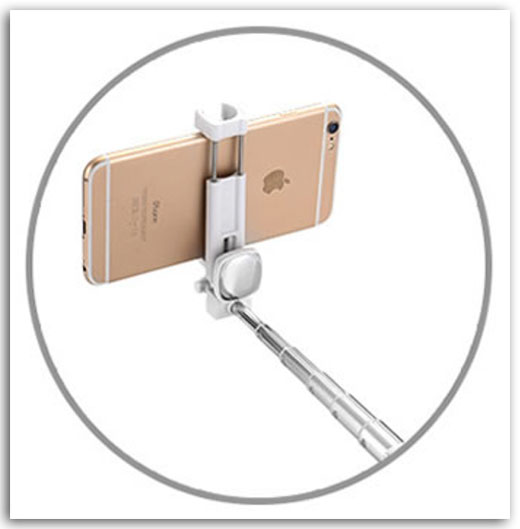 iPhone自撮り棒