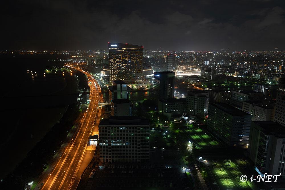 福岡タワーからの夜景(現像前)